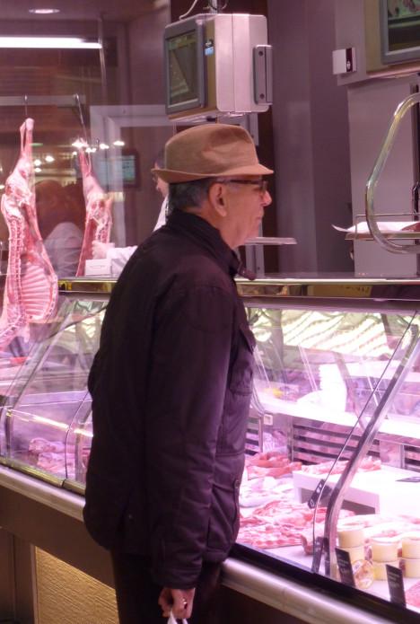 el mostrador de la carne
