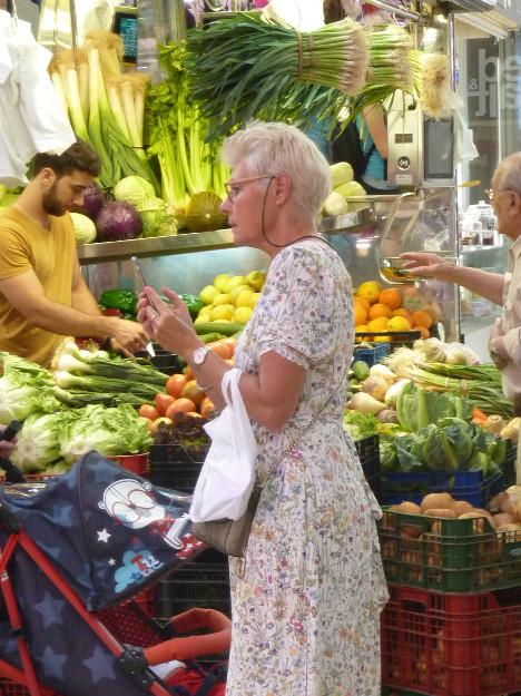 la parada de verduras